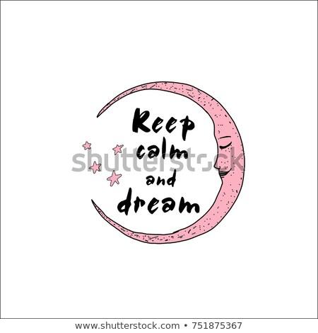 Keep Calm and Sleep Typography  Stock photo © maxmitzu