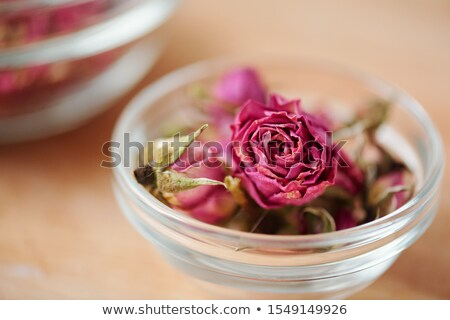 Dried Rosebuds in red can Stock photo © Discovod