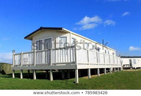 moderno · caravana · parque · cênico · ver · verão - foto stock © speedfighter