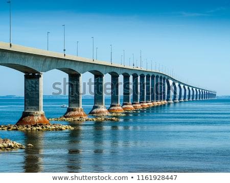 Köprü plaj yeni gün batımı kum sahil Stok fotoğraf © vlad_podkhlebnik