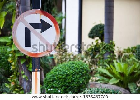 Do not turn right sign Stock photo © Elenarts