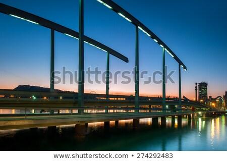 Барселона Испания воды здании природы пейзаж Сток-фото © artjazz