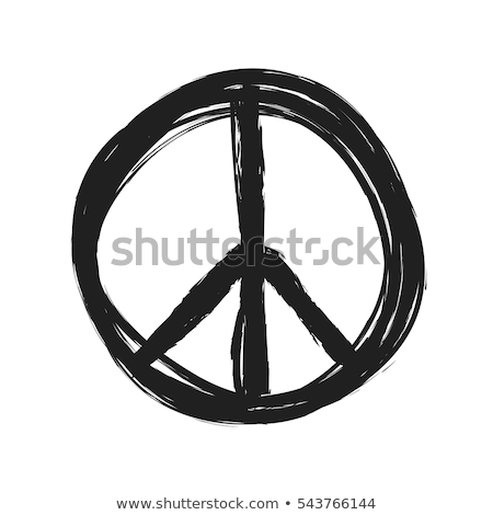 Természet béke felirat illusztráció terv fű Stock fotó © alexmillos