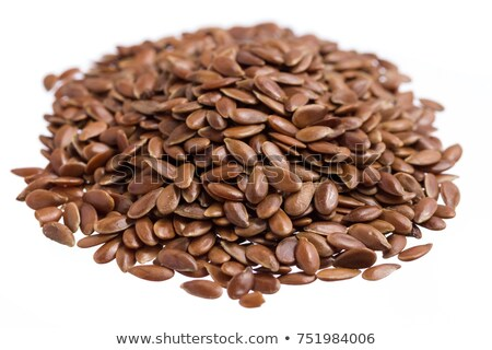 close up of flax seeds, linseed background Stock photo © pxhidalgo