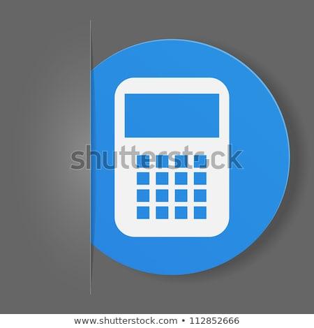 Calculator Icon on Blue Arrow. Stock photo © tashatuvango