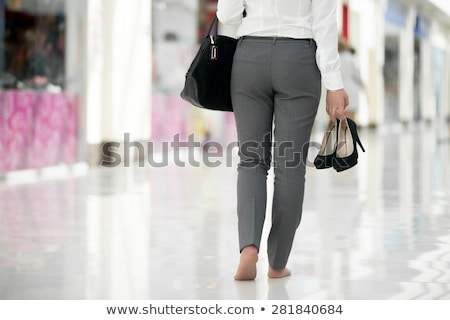 sore feet from shopping stock photo © sumners
