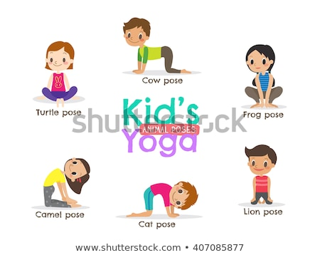 vector illustration of yoga positions in camel pose stock photo © istanbul2009