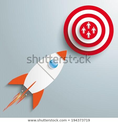 3d · személy · rakéta · 3d · ember · repülés · 3D · kép - stock fotó © limbi007