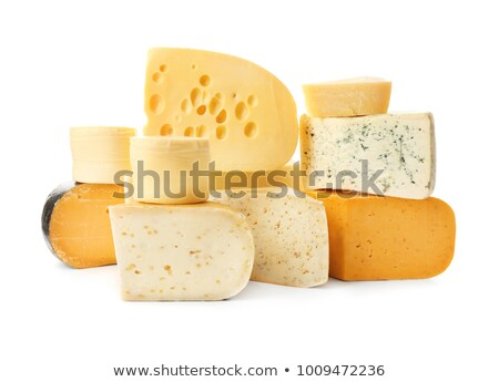 Assortiment fromages bord régime alimentaire isolé gastronomie Photo stock © M-studio