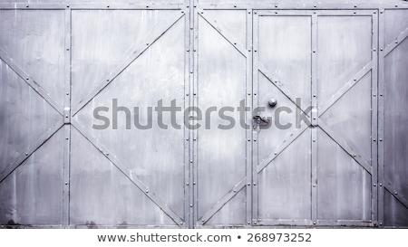 Katı Metal kapı örnek çelik güvenlik Stok fotoğraf © Yuriy