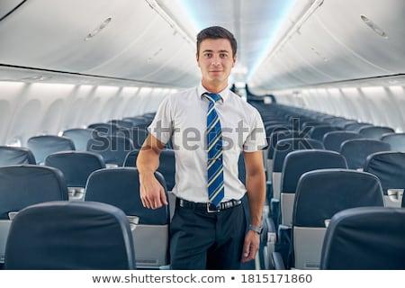 Stock fotó: Flight Attendant