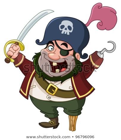 pirate with dagger isolated on the white stock photo © elnur