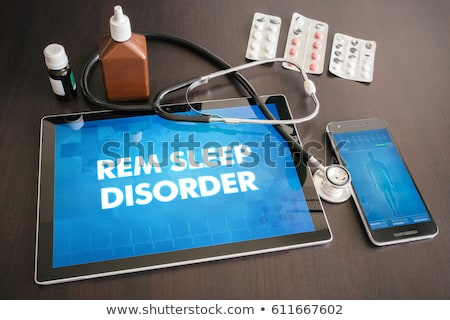 tablet with the diagnosis sleep disorder on the display stock photo © zerbor
