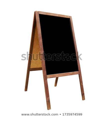 Stock photo: blackboard with easel for your text on white