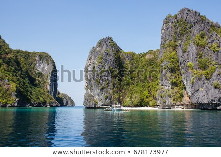 Scenic view of Bacuit Bay in Palawan Province Stock photo © smithore