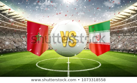 Soccer ball with Iran flag on pitch Stock photo © stevanovicigor