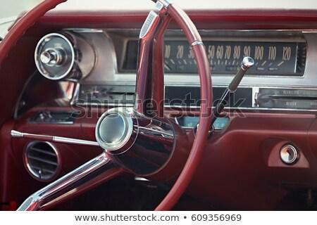 Stok fotoğraf: Retro · araba · parça · hızlandırmak · bağbozumu · tekerlek
