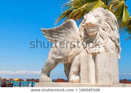 ライオン 像 遊歩道 キプロス 太陽 海 ストックフォト © Kirill_M