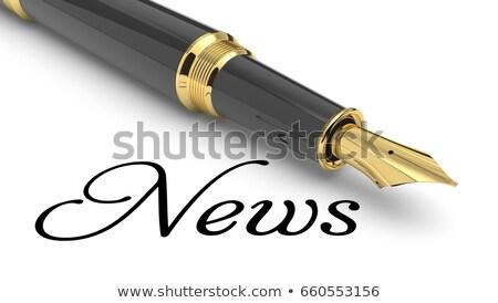 Media News - Gold 3D Words. Stock photo © tashatuvango