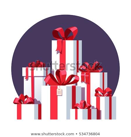 ünnepi ajándék doboz boglya izolált fehér háttér Stock fotó © natika