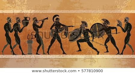 Antigo Grécia ilustração construção arquitetura ilha Foto stock © Slobelix