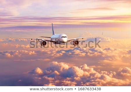 самолет · Flying · облака · большой · Jet - Сток-фото © c-foto