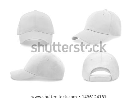 Baseballsapka felirat baseball sziluett ruházat fehér Stock fotó © m_pavlov