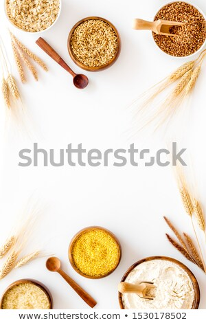 tas · semences · isolé · blanche · déjeuner · plantes - photo stock © yelenayemchuk