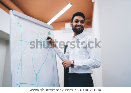 Foto stock: Businessman In Office And Char