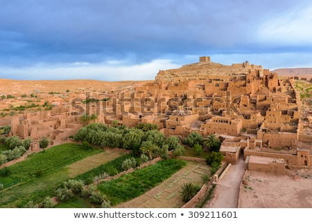 Ancient city of Ait Benhaddou in Morocco stock photo © kasto