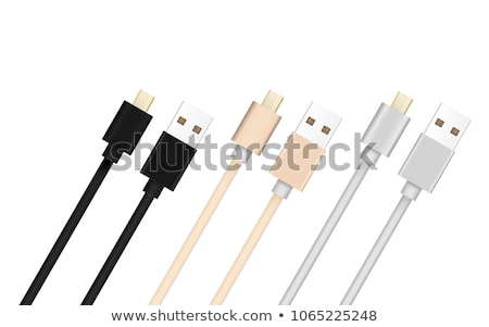 micro usb cable connected to smart phone stock photo © tungphoto