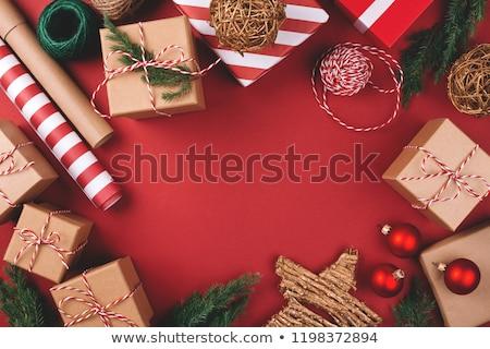 Conjunto dom pacotes natal presentes festa Foto stock © elenapro