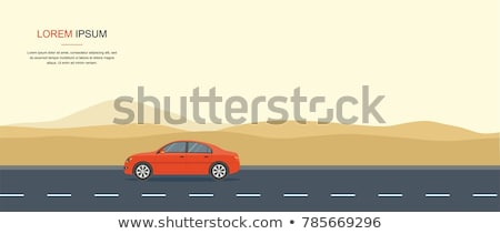 Stock photo: Speeding truck on desert road