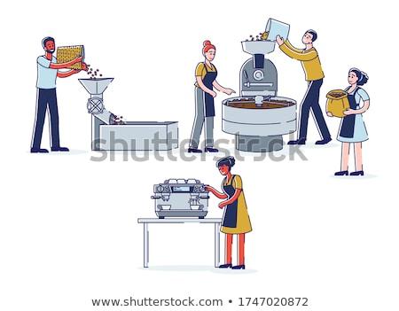 coffee mill machine making espresso stock photo © dariazu