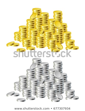 Stockfoto: Zilver · munten · oude · houten · tafel · zwarte · business