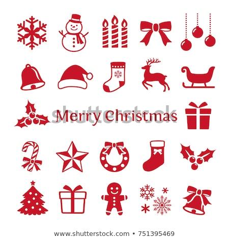 Simple joyeux Noël icône design glace Photo stock © michalsochor