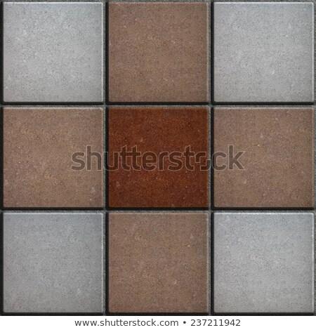 Three Colors Brick Pavers. Seamless Texture. Stock photo © tashatuvango