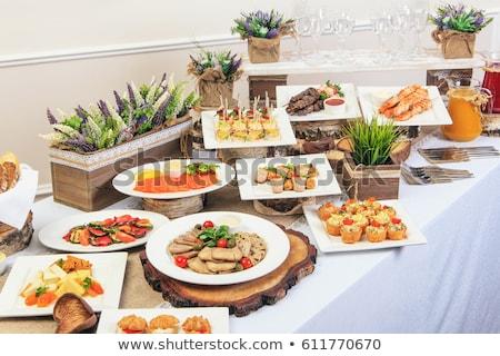 buffet · alimentaire · assortiment · fête · fond · pain - photo stock © m-studio