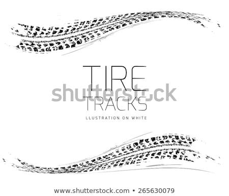 Tire tracks frame Stock photo © m_pavlov