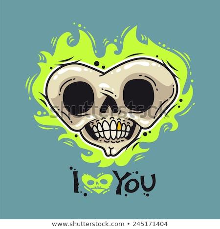 Brucia morti cuore cartoon umorismo san valentino Foto d'archivio © Voysla
