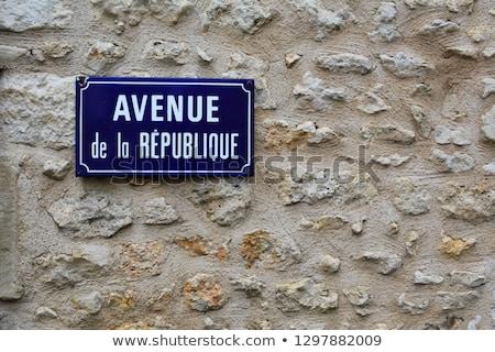 французский улице подписать смысл большой улице Сток-фото © Hofmeester