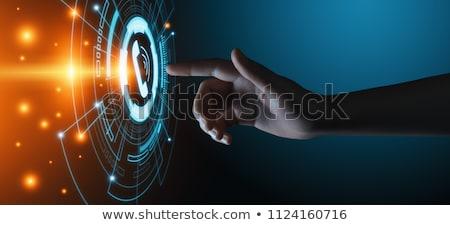 üzletember hívás ikon kéz telefon felirat Stock fotó © ymgerman