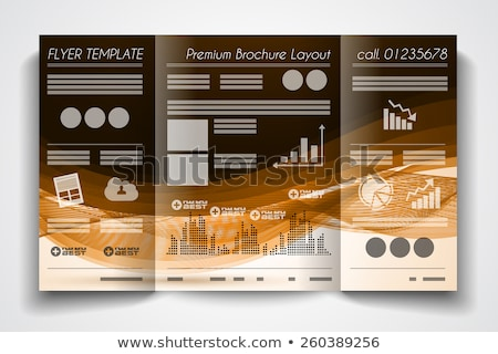 Vector tri fold brochure template design or flyer layout to use for business applications, magazines Stock photo © DavidArts