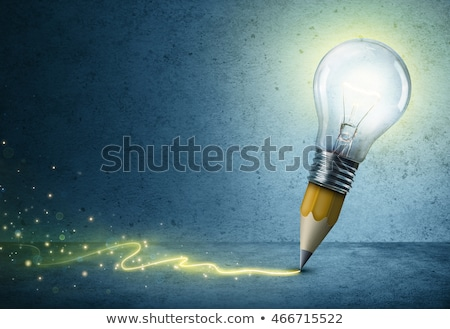 creative pencil and bulb creative idea concept stock photo © vgarts