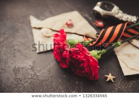 Carta guerra primavera signo rojo negro Foto stock © Valeriy