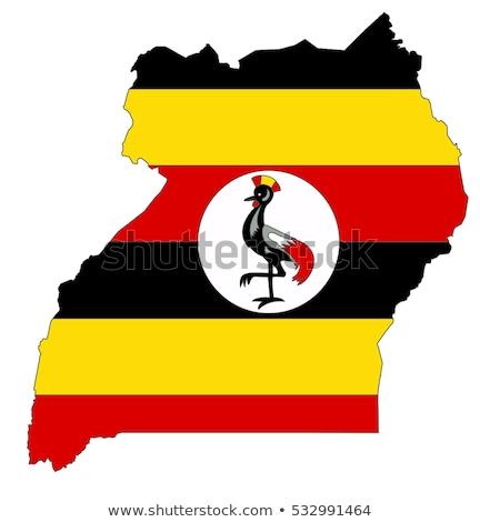 ウガンダ フラグ 地図 国 ストックフォト © tony4urban