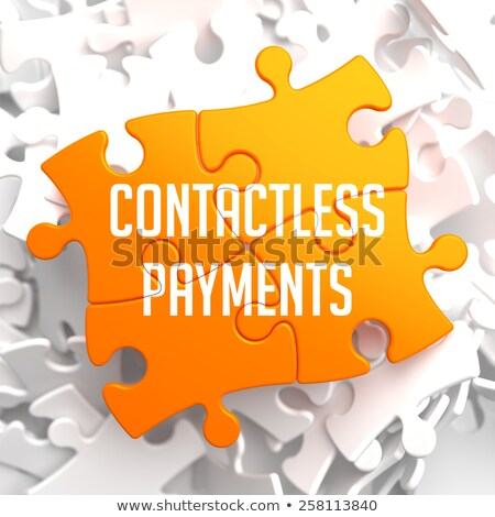 Stock photo: NFC Payments on Yellow Puzzle.