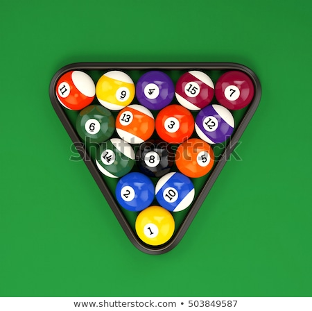 Billiard balls in a triangle Stock photo © ZARost