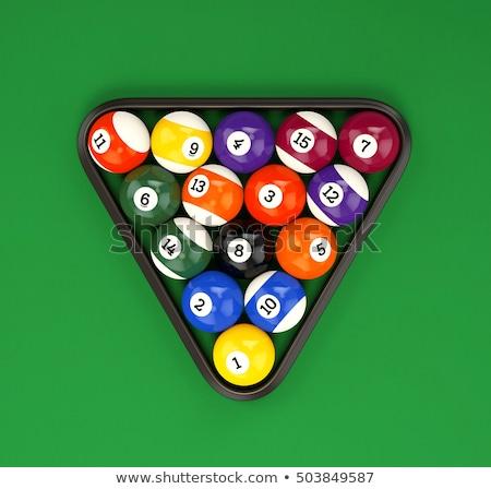 бильярдных · треугольник · зеленый · таблице · 3d · иллюстрации - Сток-фото © ZARost