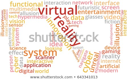 word cloud - virtual reality Stock photo © master_art